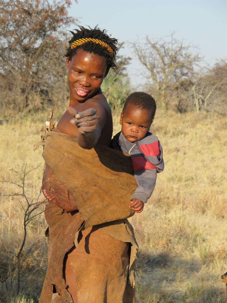 Bushmen mother and baby