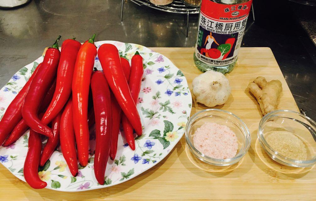 Ingredients sauce piment