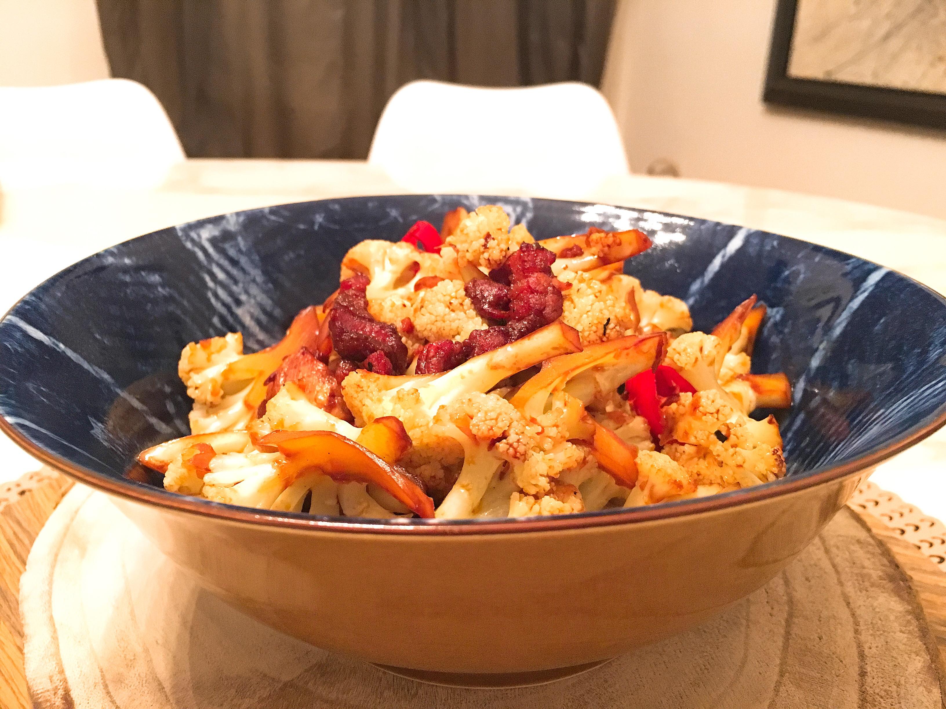 醬爆臘肉炒花椰菜