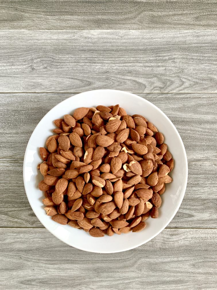 grilled almonds