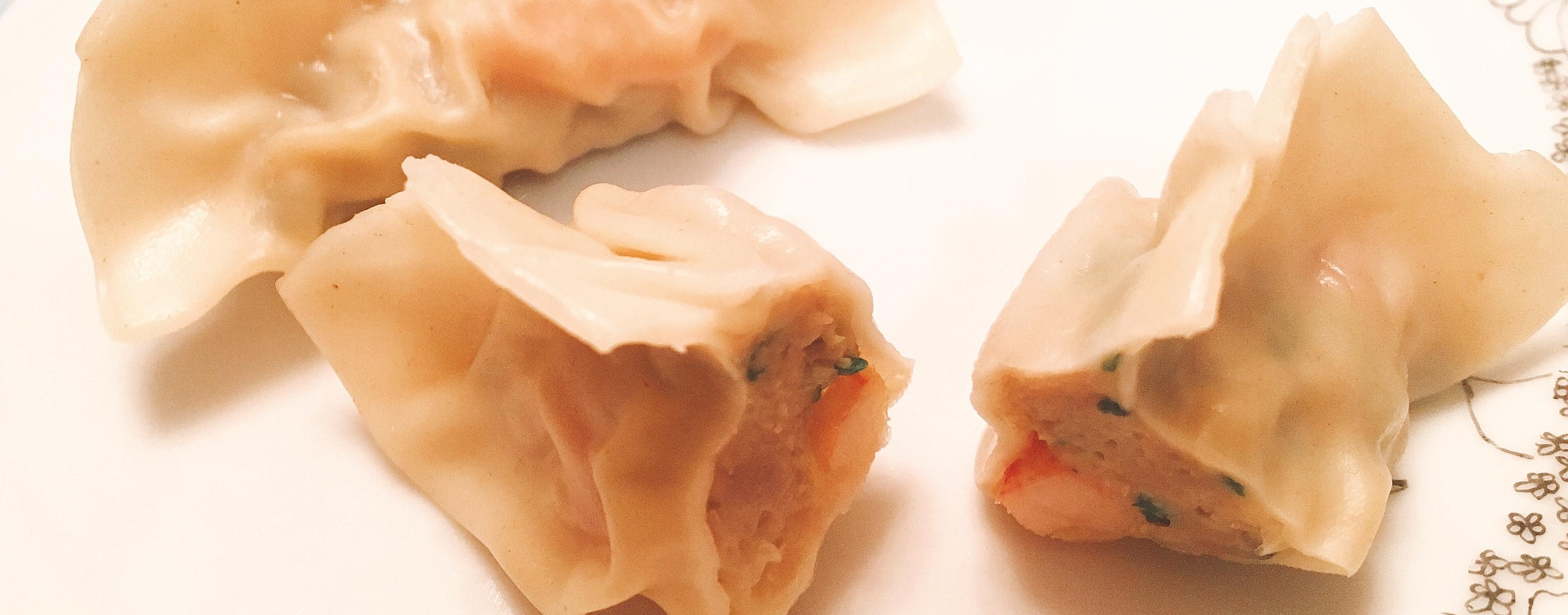 Jiaozi aux Crevette poulet coriandre