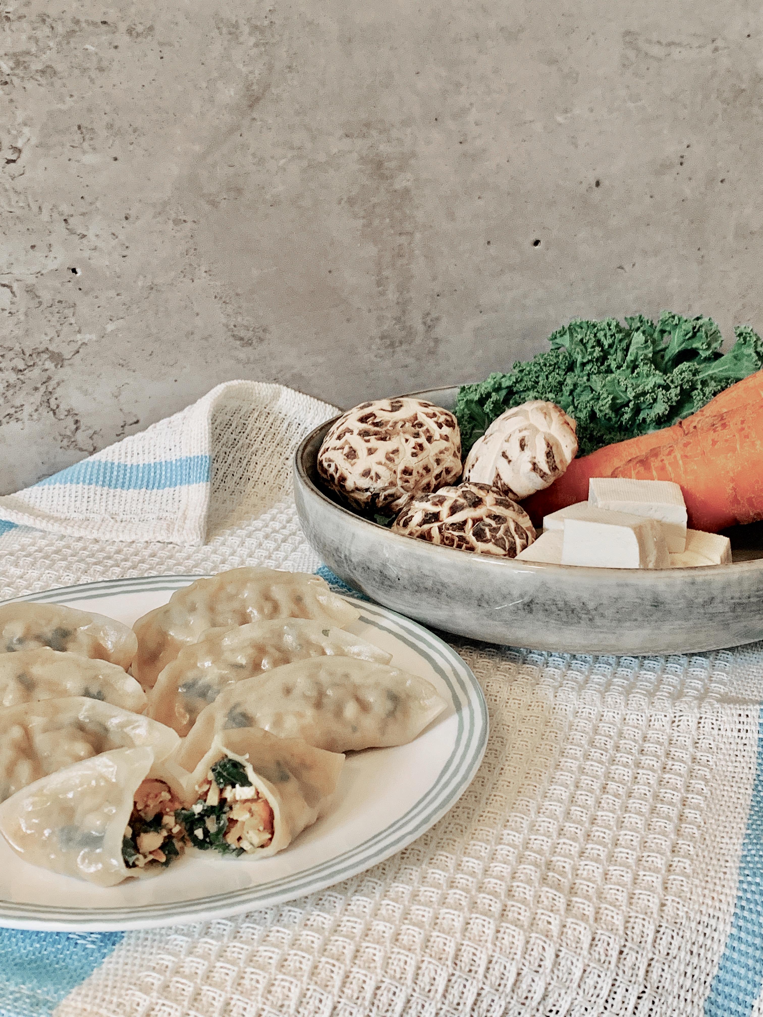 Végétariens Jiaozi